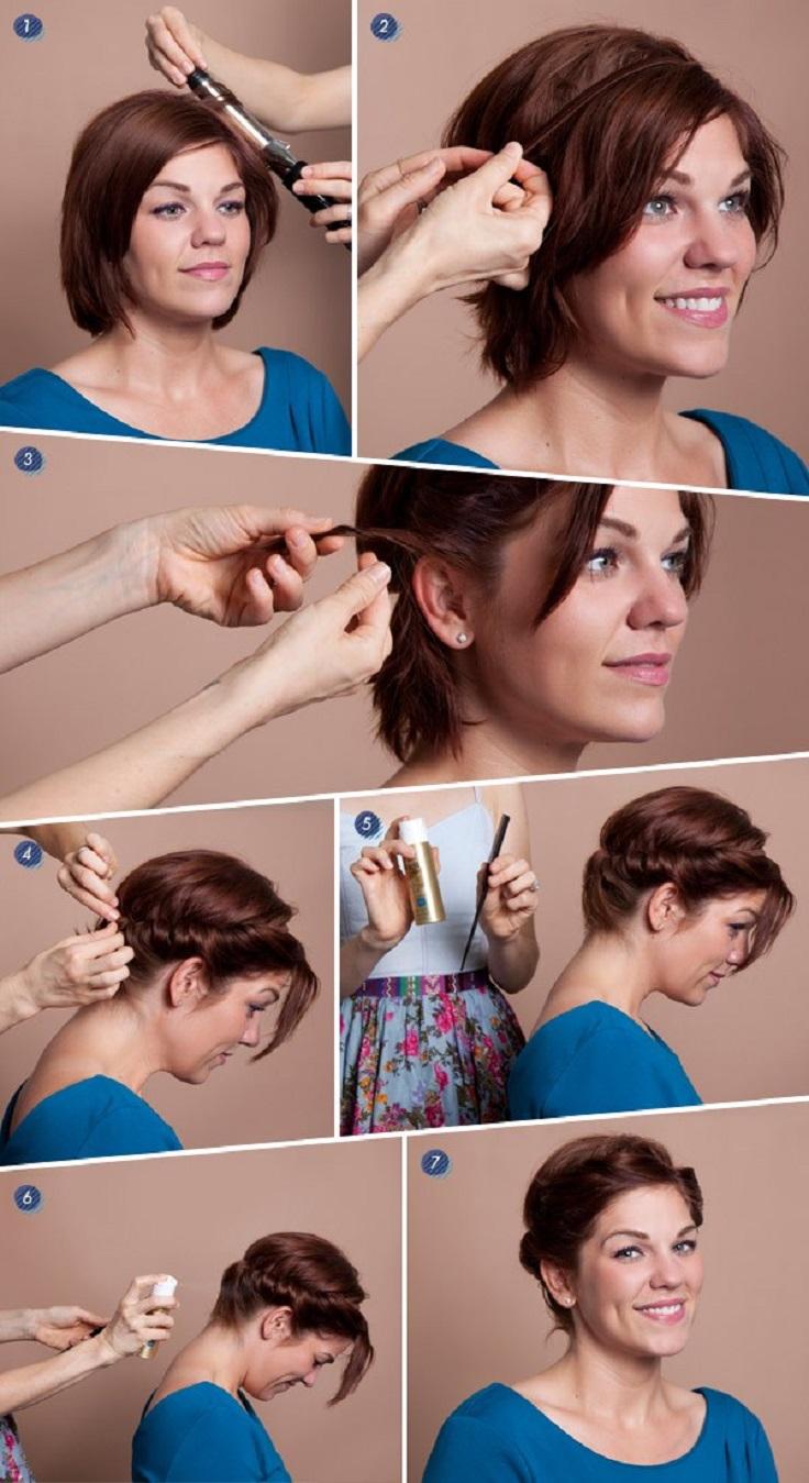 Прически на короткие волосы в домашних условиях фото своими руками