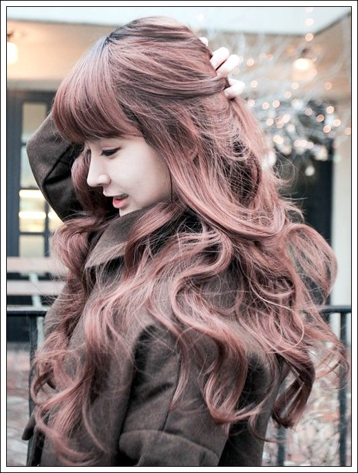 Wavy Bangs Korean Image Collections New Hairstyles Update