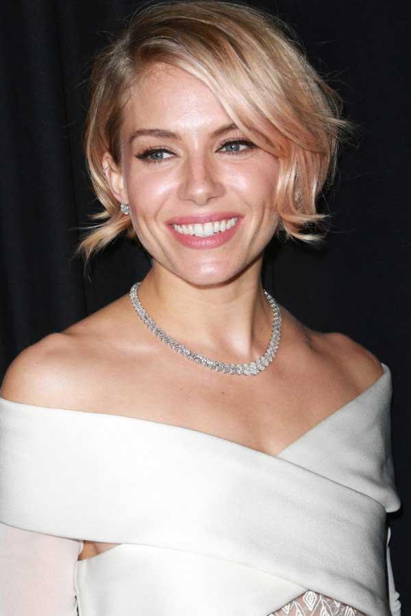 Sienna-Miller-Flicked-Peach-Bob-Hairstyle   Best Hairstyles Design ...