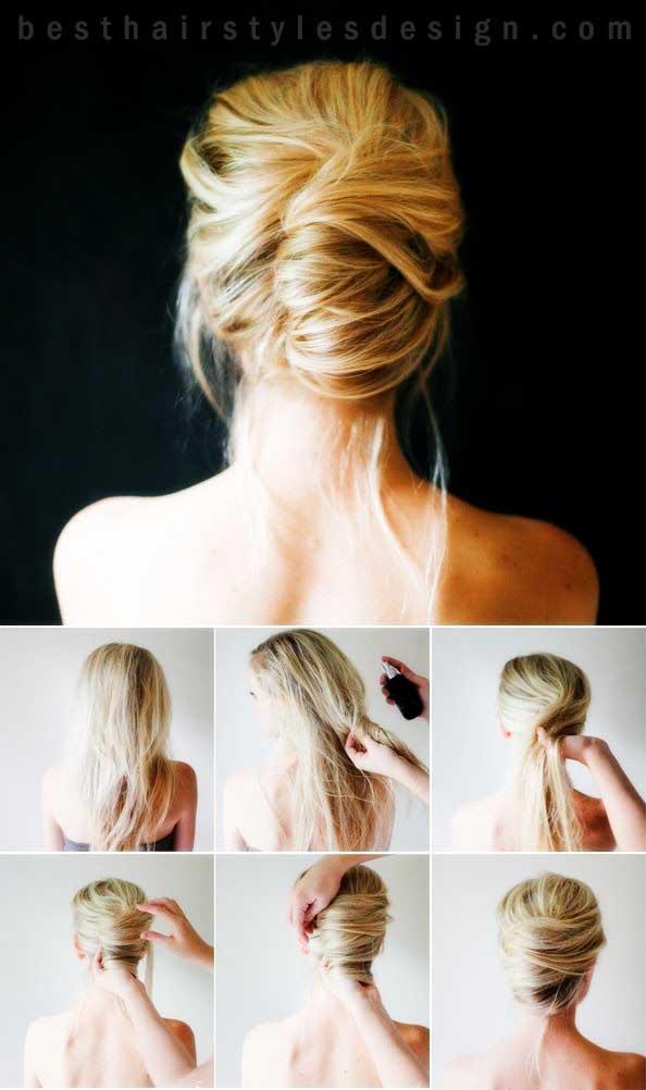 несложные прически для волос средней длины